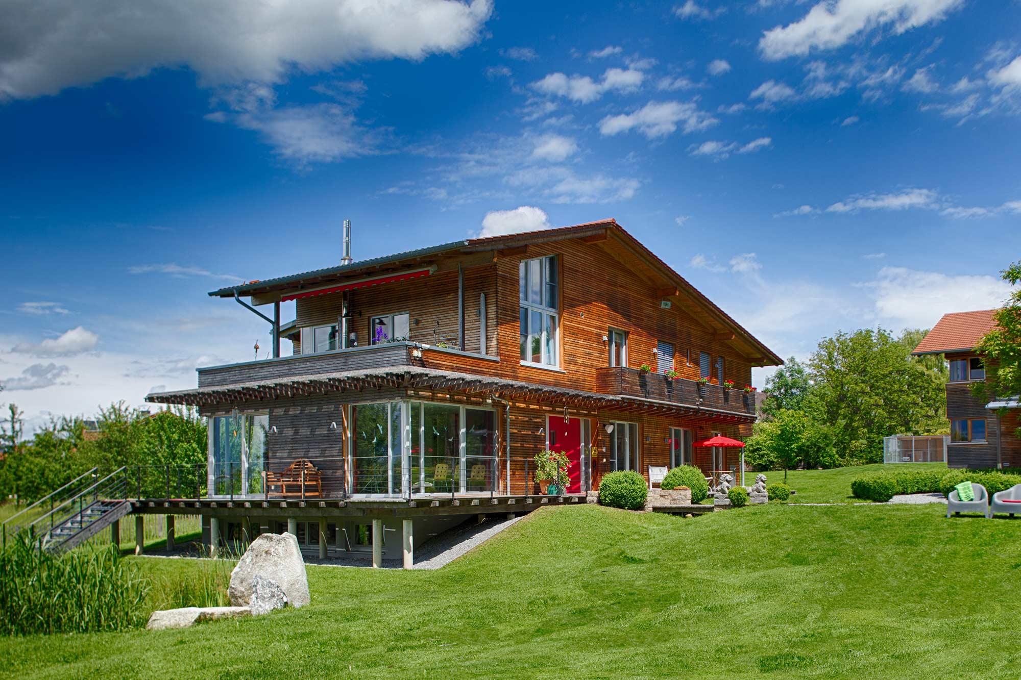 Wildhaus aus Massivholz